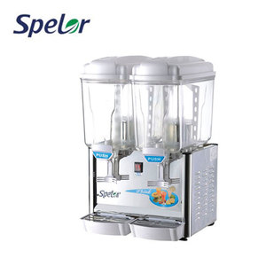 Ce Cheapest Two Tank 2*15L Cold Beverage Dispenser Fruit Juice Dispenser