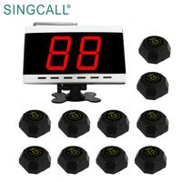 SINGCALL CE FCC certificate restaurant waiter wireless call bell system