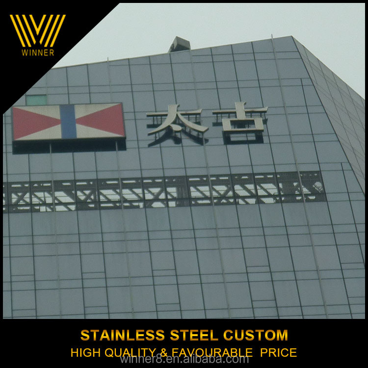 customized outdoor stainless steel 3d sign