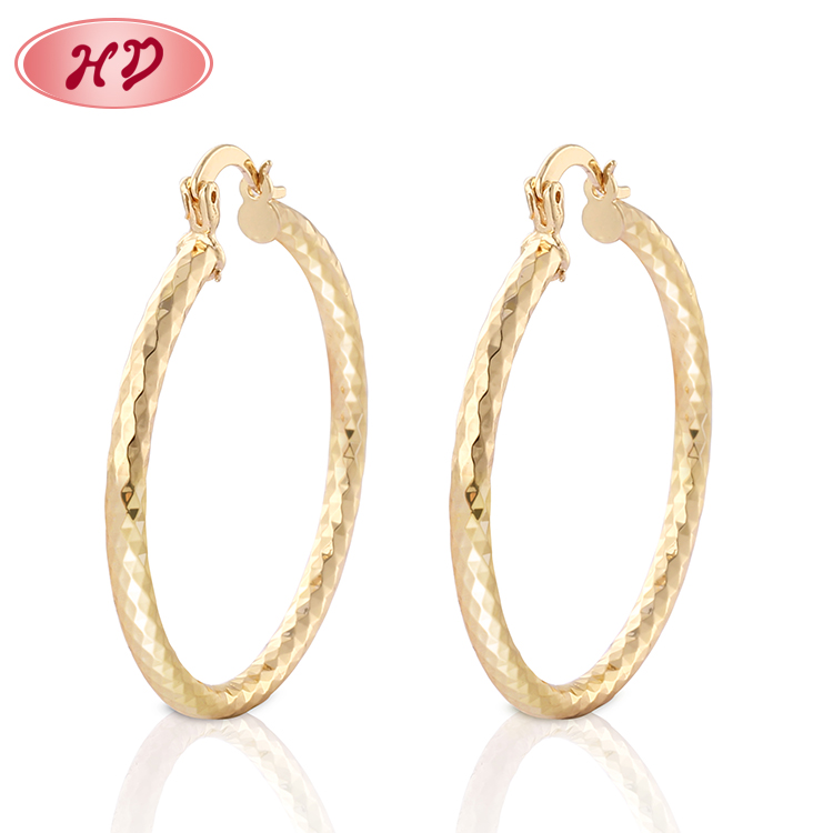 2019 Fashion Jewelry China Factory 도매 Joyeria 금 Brass Hoop Earrings 보석