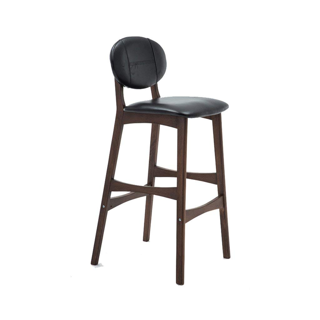 Get Quotations · Wooden Bar Chair Creative Breakfast Bar Stools Kitchen  Counter High Chair Nordic Bar Chair Modern Minimalist