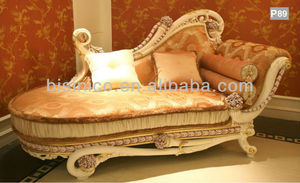 French Classic Style Latest Hand Carved Living Room Sets, Dormeuse