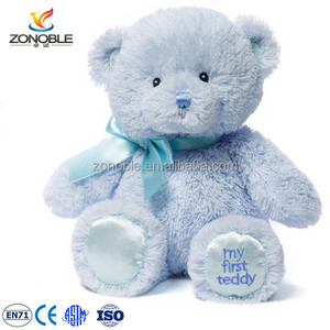 EN71and ASTM quality standard cheap baby my first teddy bear custom blue soft teddy bears