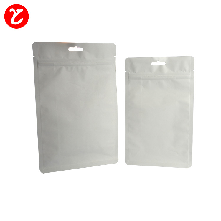 resealable coffee bags matte white block bottom foil doypack for coffee flat bottom bags