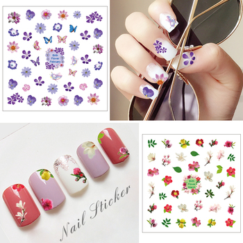 2017 New Product 60 Designs Wholesale 2d Custom Nail Wraps Sticker