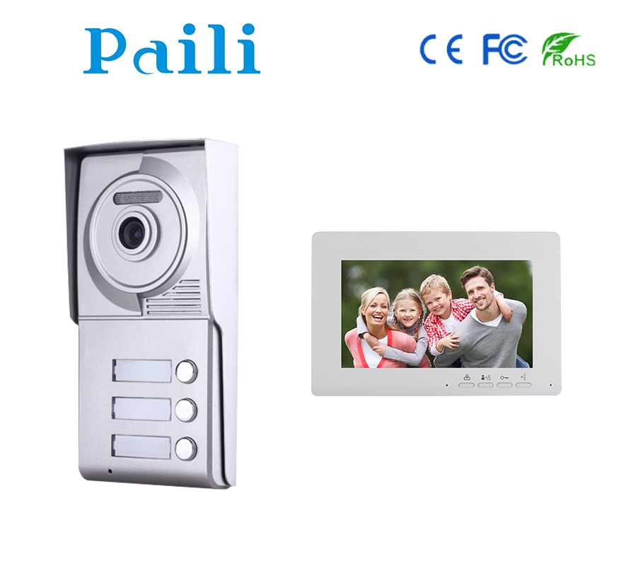 "Multi Apartment building intercom system Paili RFID card access 10"" TFT Touch Screen monitor Video door phone"