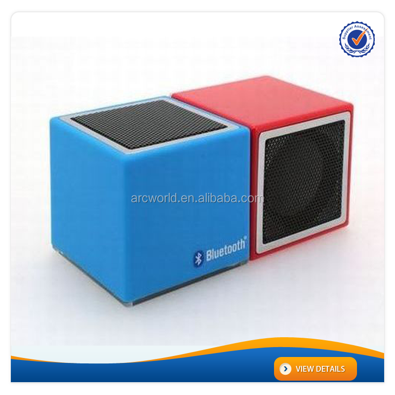 AWS895:Blue Color Cube Bluetooth Laptop Computer Woofer Speaker