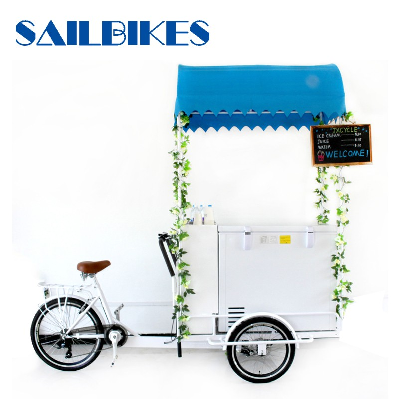 Mobile food bicycle vending carts
