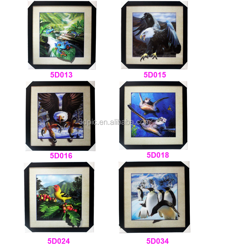 ThreeD cheap price PET 3d lenticular 5d picture of restaurant wall art decoration