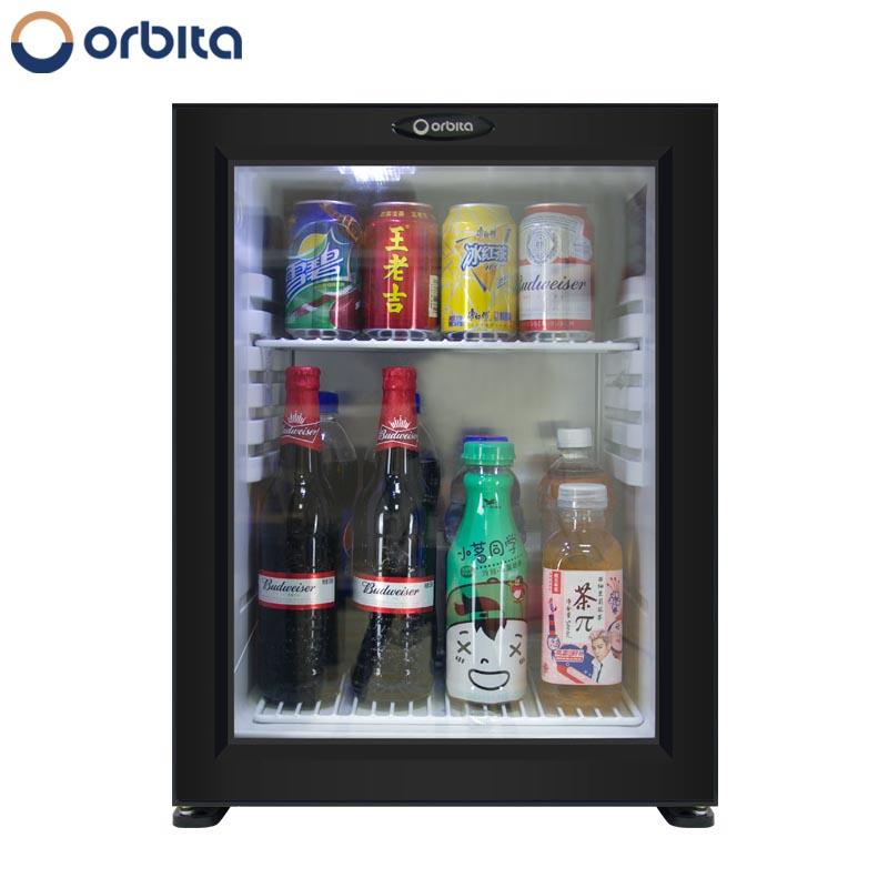 Glass Door Mini Refrigeratorhotel Guest Room Minibar Fridge Mini