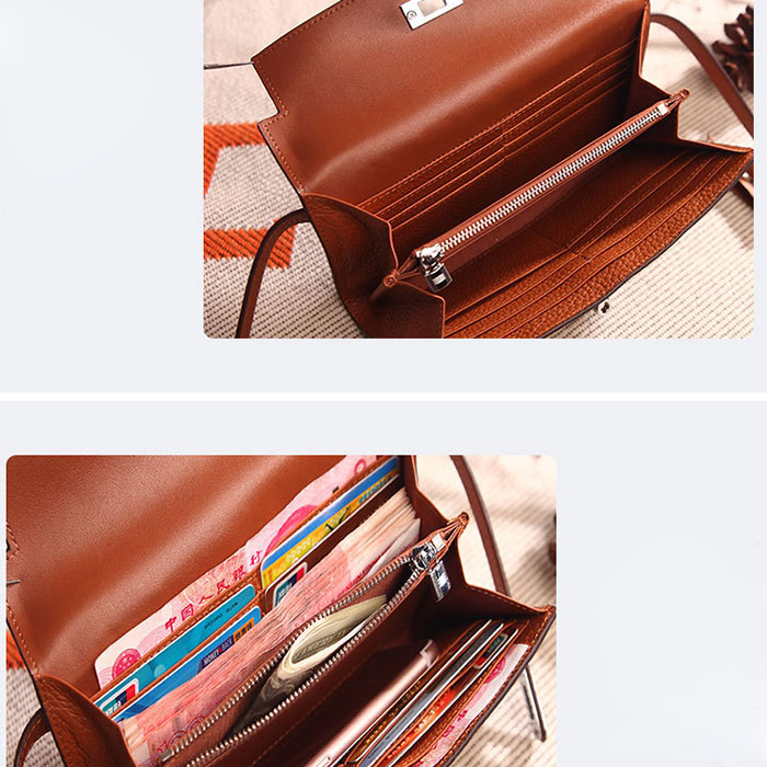 Envelope Cheap Multicolor Fashion Genuine Cowhide Leather Women Wallet.jpg