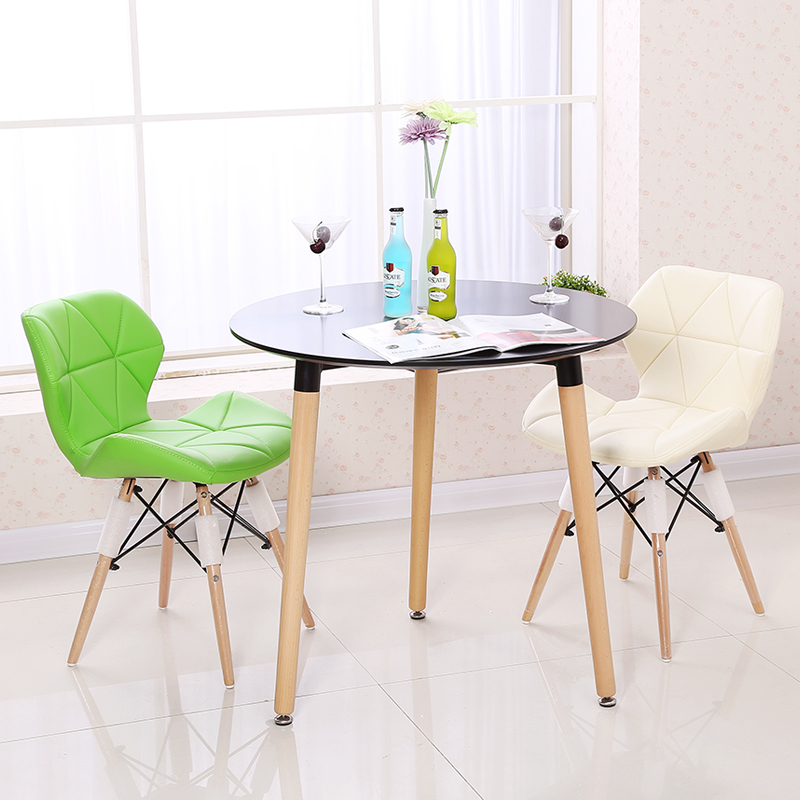 Colorful cheap dining PU leisure chairs