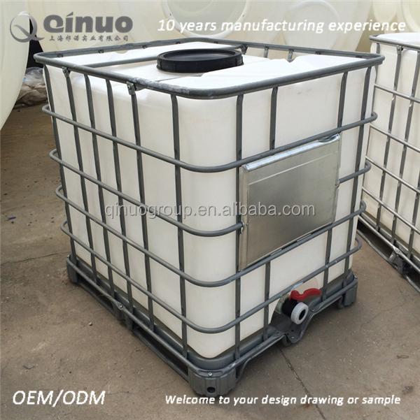 Agua de calidad alimentaria ibc contenedor ibc tanque de Tanque de agua 1000 litros