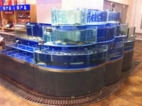 APEX supermarket large commercial fish tanks round glass/aquarium tanks supplies