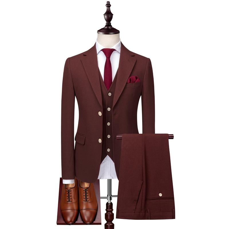 c7446d34b06 Men s Coat Pant Designs 2019 Fashion Casual Business Suit 3 pieces Set   Suits  Men s Jackets Pants Waistcoat Vest Pants