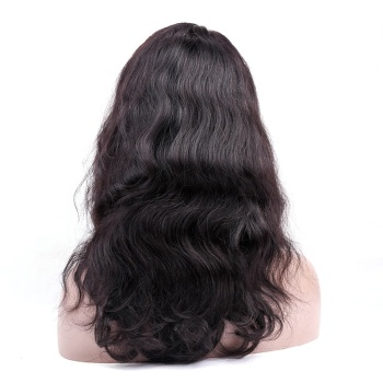 Factory cheap sale natural black long wig body wave curly wig for black women