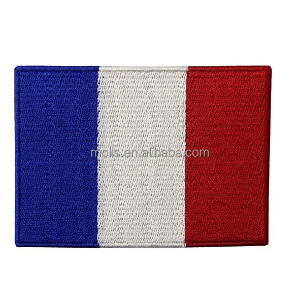 France Flag Embroidered Emblem French Applique Iron On Sew On Patch