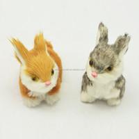 one pair rabbit fur toys stuffed rabbit toys 7cm