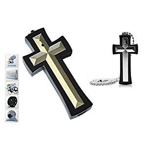 Mengshen 8GB Cross Necklace Spy Hidden Camera Mini DVR Cool Gadget Easy To Use MS-HC40