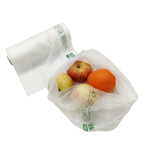 custom cornstarch 100% biodegradable clear fruit vegetable plastic produce bags on roll
