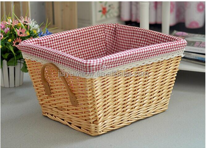 Hotsale Cute Brown Set 3 Small Wicker Basket Storage