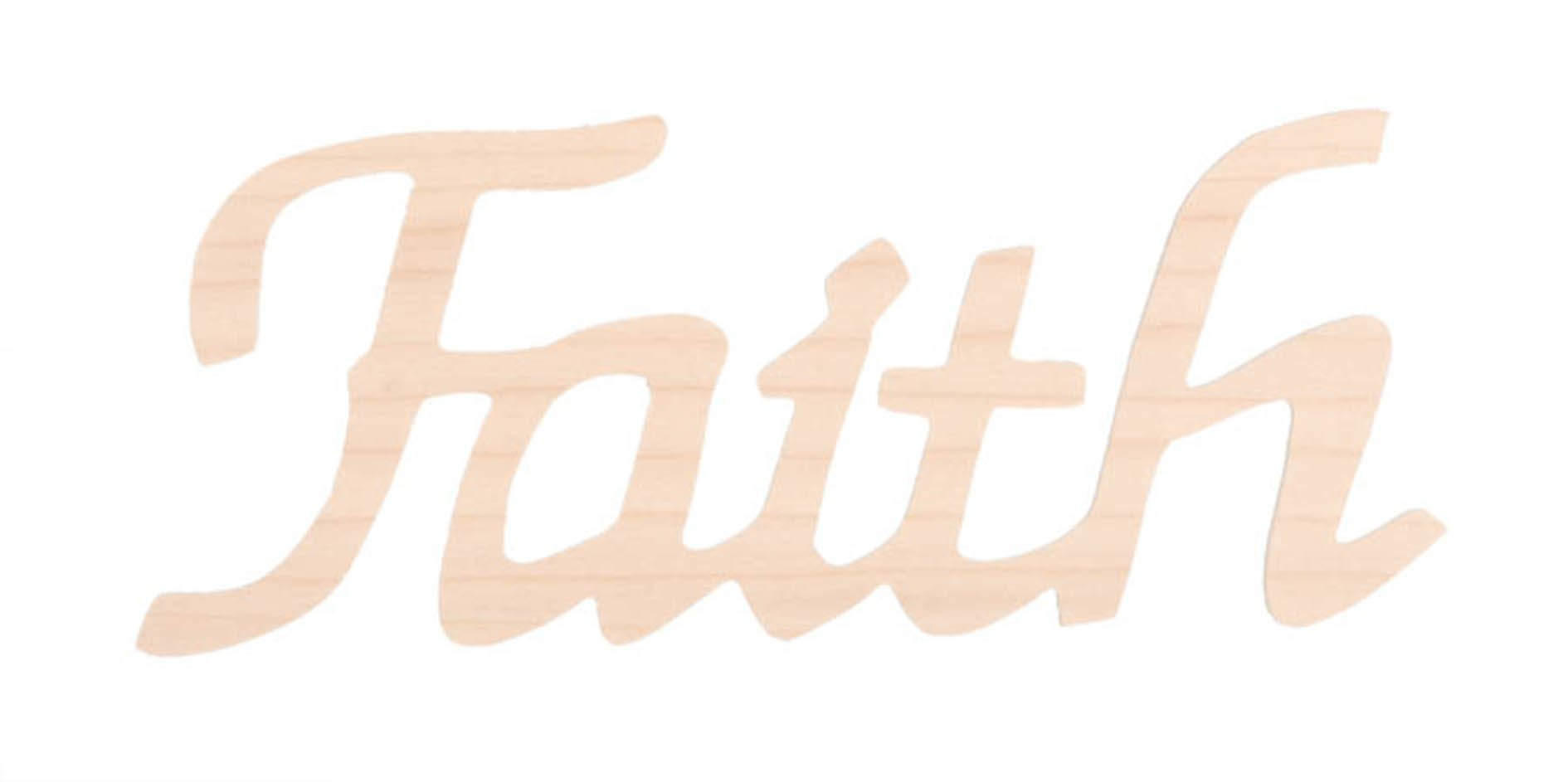 Darice 9110-40 Wood Script Word, Faith