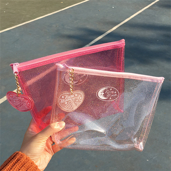 your own durable clear pvc cosmetic packaging bag