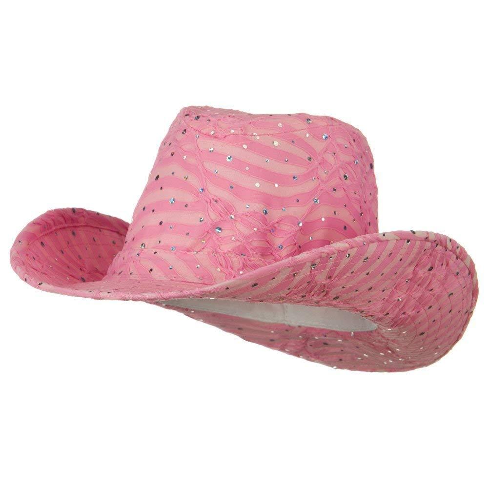 55e3fc77963 Get Quotations · SS Sophia Glitter Cowboy Hat - Pink