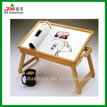 Pine Wood Breakfast Folding Table For Bed