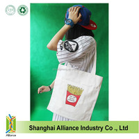 Wholesale recyclable cotton shopping bag/Fashion reusage eco-friendly cotton tote bag/Promotional customize cheap cotton bag