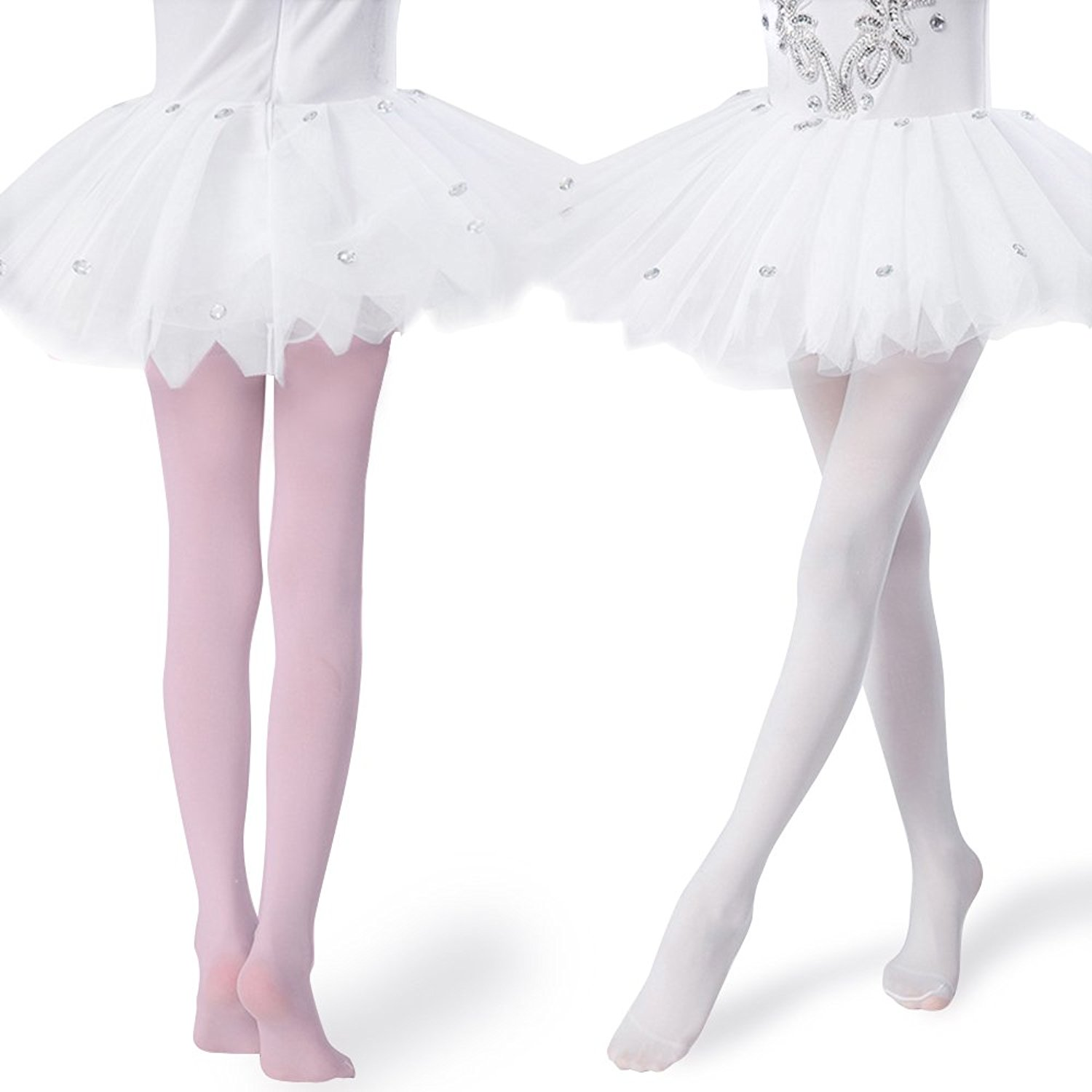 e84ef462b Get Quotations · Girls Tights Ultra-soft Footed Dance Sockings Ballet  Tights Kids Super Elasticity School Uniform Tights