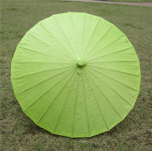 [I AM YOUR FANS] Sufficient stock! Chinese hand made paper umbrella paper bamboo umreblla 9colors for choice lemon green
