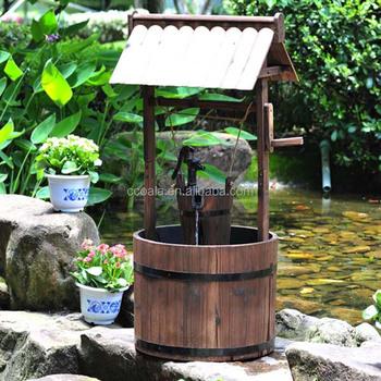 Garden Wooden Wishing Well Planter With Pump Buy Wooden Garden