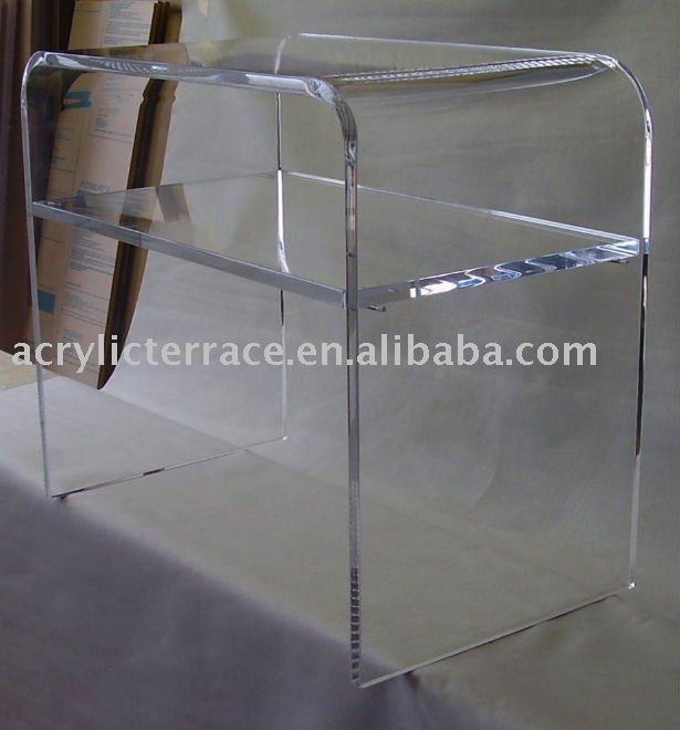 Acrylic Shelf Table Tv Lucite Waterfall Home Theater   Buy Clear Acrylic  Side Tables,Acrylic Dining Table,Acrylic Console Table Product On  Alibaba.com