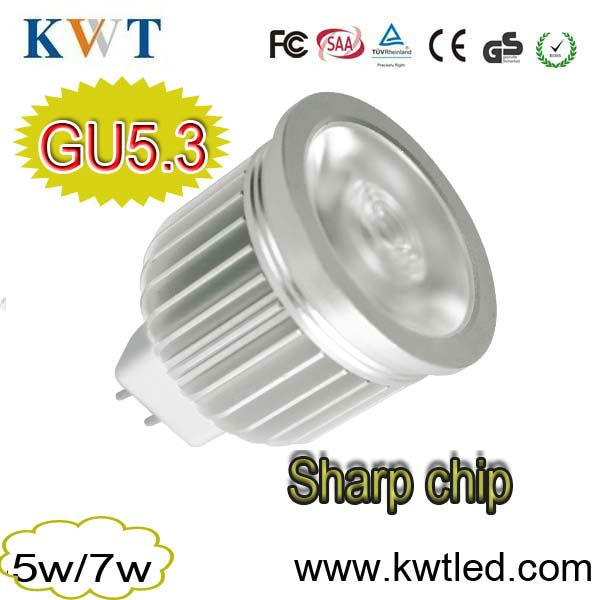 New promotion !!! Sharp chip led gu 5.3 led spotlight dimmable fast delivery
