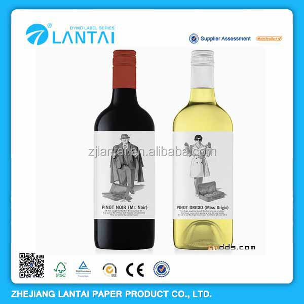 Environmental friendly cheap customized wine label roll