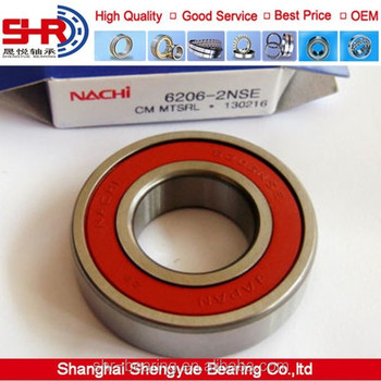 6 6206 2NSE C3 Nachi Bearing JAPAN 30X62X16mm 6206 2RS 6206 RS DOUBLE SEALED