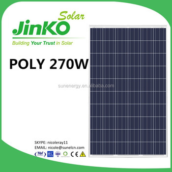 Jinko 270w Solar Panels With Ar Anti Reflection Glass
