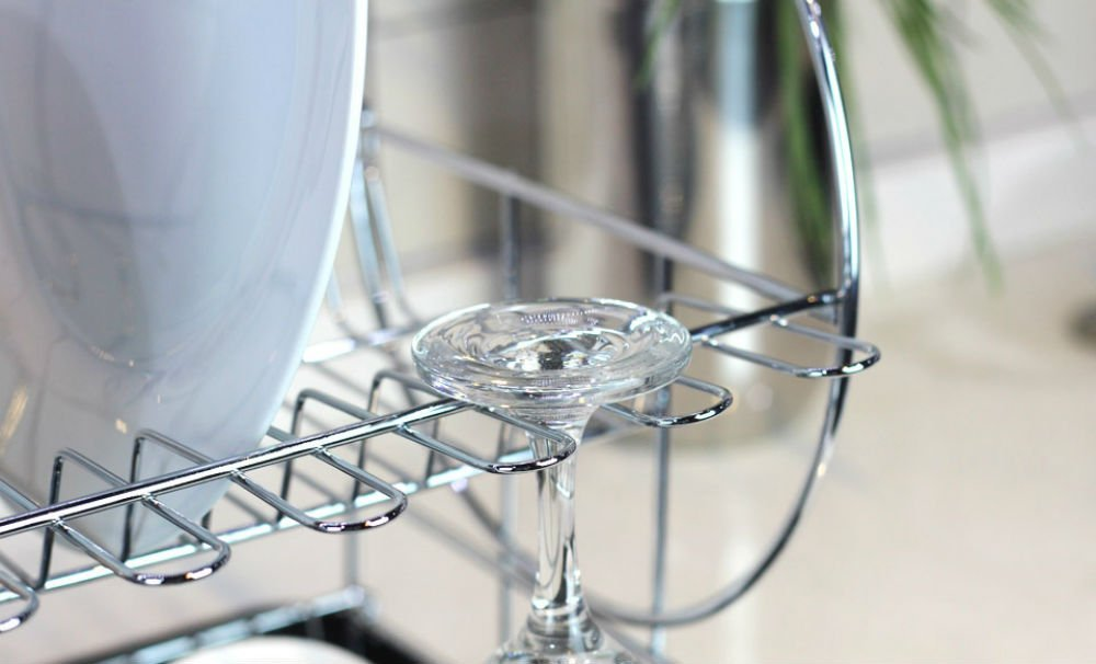 Free sample metal wire kitchen wine plate dish drying rack