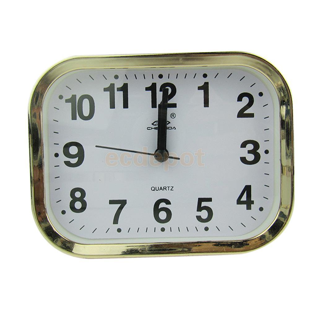 Alarm Clocks Mini Round Alarm Clock Desktop Table Bedside Clocks Kids Adults Travel Clock Decor Lovely Heart Alarm Clocks Dial Number Round Home Decor