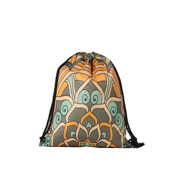 Fashion lotus flower printing polyester kids sport drawstring fashion lotus flower printing polyester kids sport drawstring backpack mightylinksfo