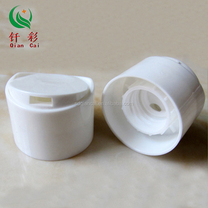 24-410 high quality plastic double walled disc top cap for shampoo bottle