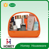 2015 Promotional travel clear transparent pvc makeup bag/ clear travel hanging toiletry bag pouch