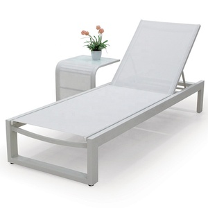 Swimming Pool Furniture Outdoor Deck Chair Sun lounger Chair White Lounge Chair