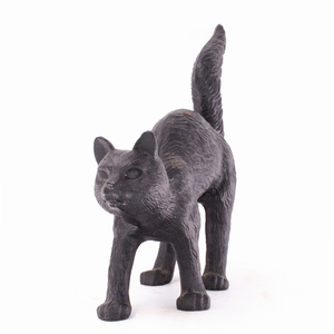 Chinese Artifact and handicraft Supply Cast Iron Cat Figurines For Home Decor