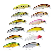 Topwater Minnow Lure 8cm 11g Small Fat Plastic Crank Bait Black Fish Fishing Tackle Supplies