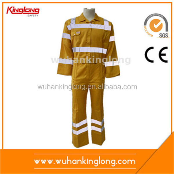 Yellow dusty-proof Safety Work Wear with Reflective Strip