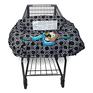 Boppy Shopping Cart and High Chair Cover, City Squares Black and White by Boppy