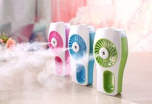 New Cooling Humidifier Fan Rechargeable USB Water Spray Fan Misting Mist Cooler water Powerful USB Air Conditioner Home Fan