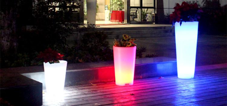 Elke grootte geleid bloempot/geleid bloem planter/solar led bloempot licht